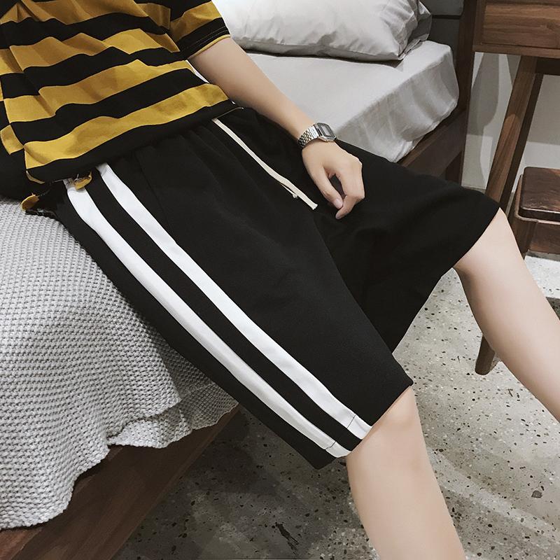 夏季潮流短裤 港风宽松运动裤五分裤20208-K153 P30券后48.00元