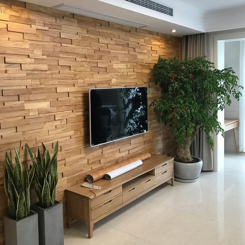 橡木实木马赛克电视背景墙船木客厅主卧室装修材料木质头线隐形门