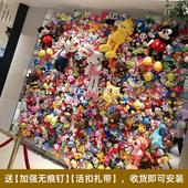 爱心形娃娃墙 ins网红店铺装修背景毛绒玩具布偶公仔墙上收纳网格