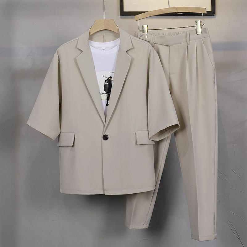 XF56轻熟风流行夏季跨肩宽松七分袖休闲西装单西P95-C204套装P150