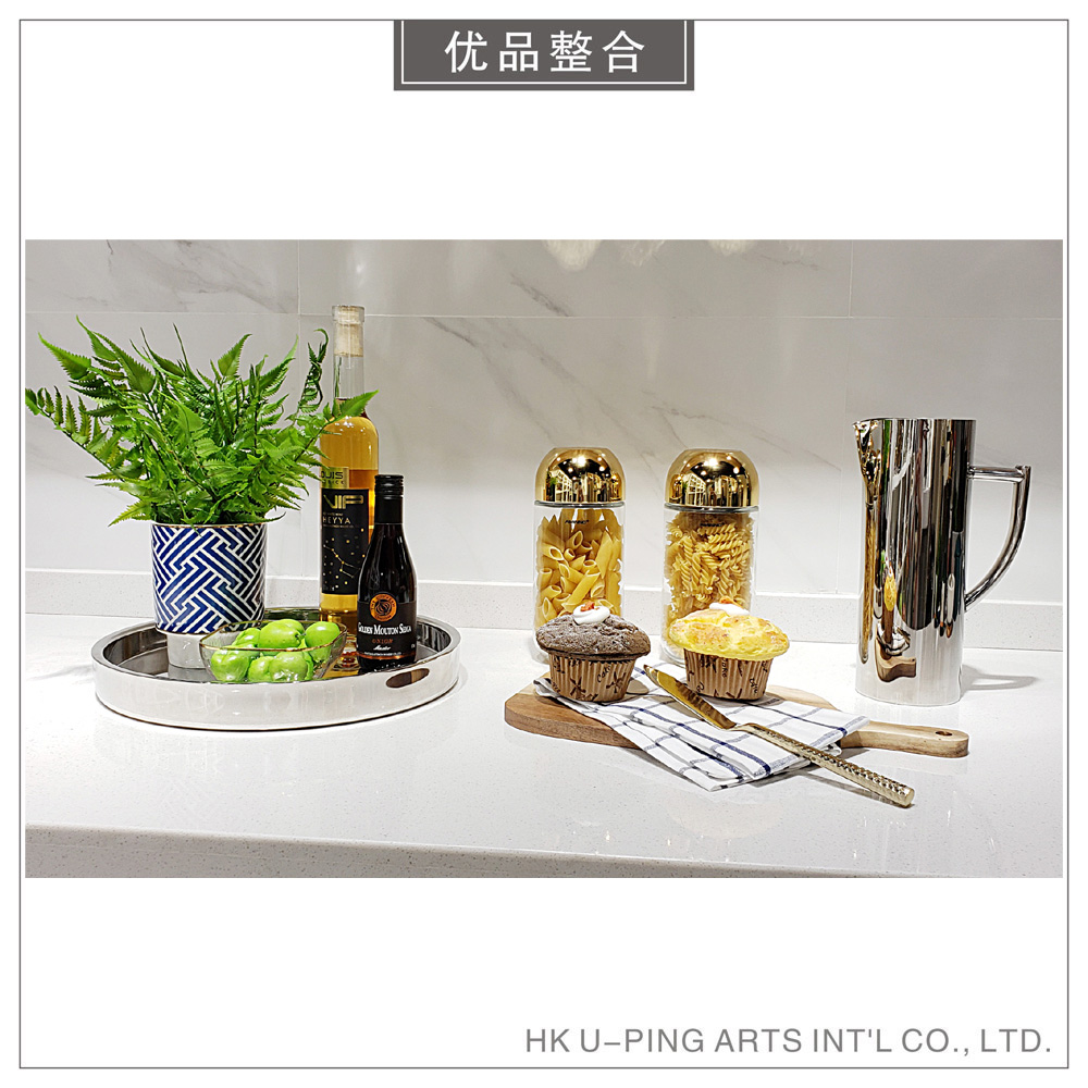 Model room simple soft decoration home kitchen creative simulation fruit storage tank tray decoration combination zh1853