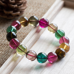 Photo Natural Brazil counters tourmaline bracelet unisex transparent a thing