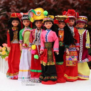 Characteristics of Yunnan minority ethnic dolls doll ornaments ethnic handicrafts 56 ethnic Korean