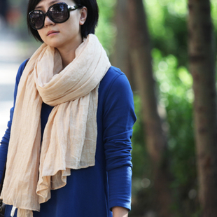 2014 spring new female cotton scarves Arts wild simple plain long section of South commoner