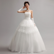 Sweet Princess gown with a fitted bodice wedding dress new 2015 Korean Korean bridal lace