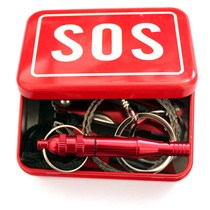 包邮户外野外生存工具刃应急包组合套装装备SOS生存盒自救求生盒