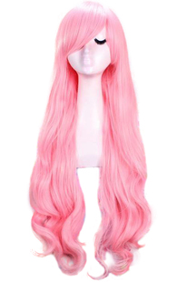 Lan Meier cos wig Hatsune family V home air volume cosplay pink fluffy long hair