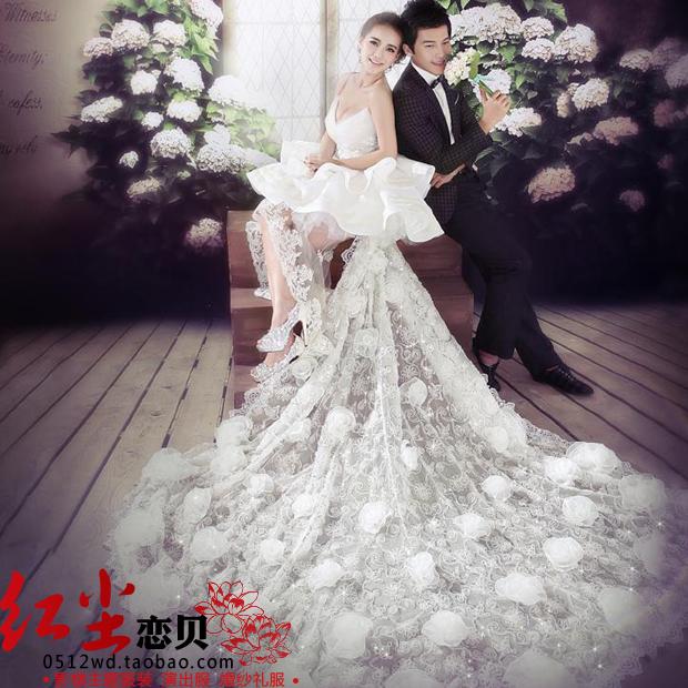 Новая студия тема одежда пара фото Корейский костюм фото хвост Свадебное платье R27