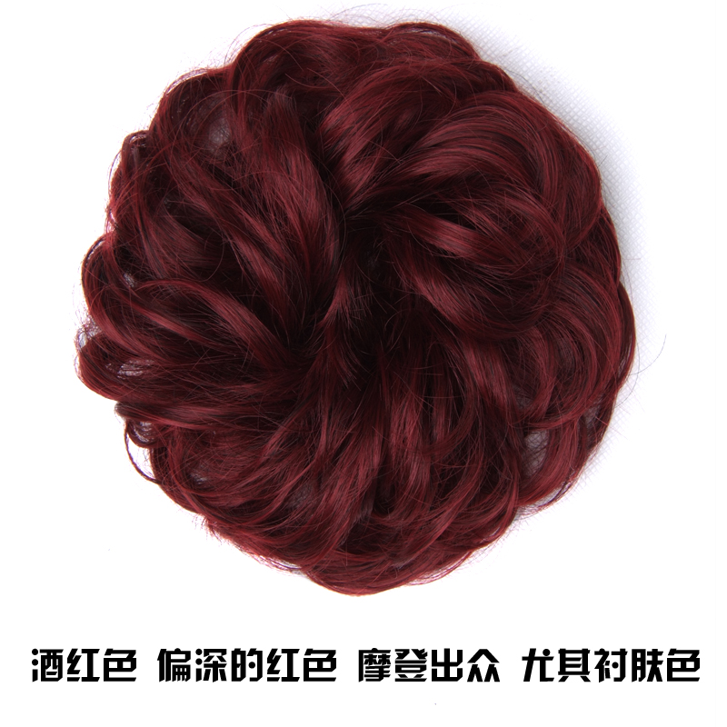 Womens wig contract, color ball head wig, bun, pan head, flower bud, fluffy, lifelike, fluffy and natural