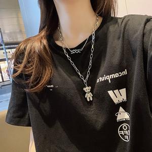 2019年新款网红同款双层小熊毛衣链