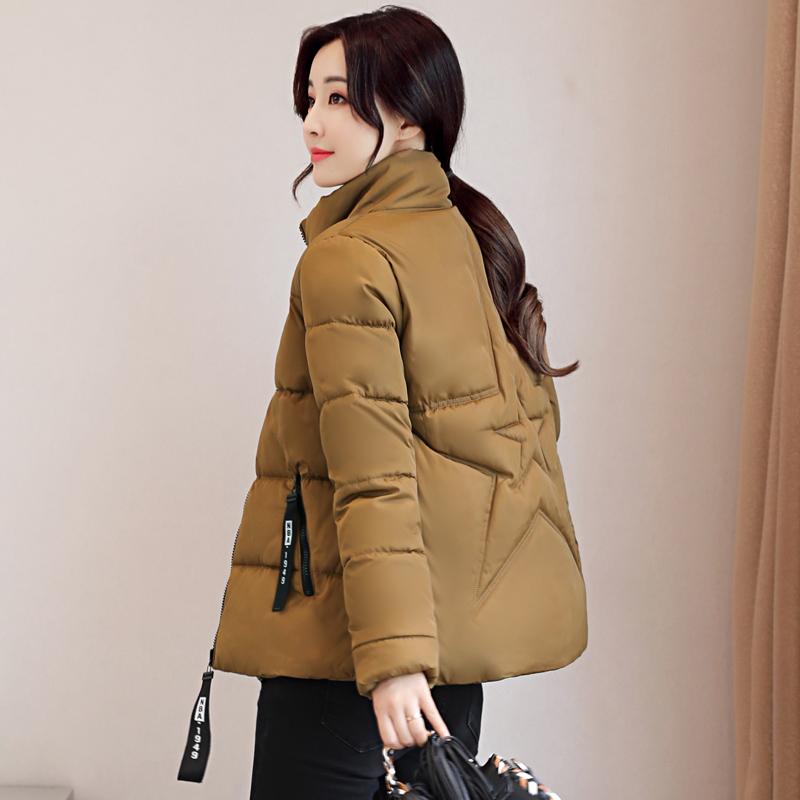 棉衣女装反季清仓韩版冬季短款棉袄面包棉服立领百搭大码学生外套