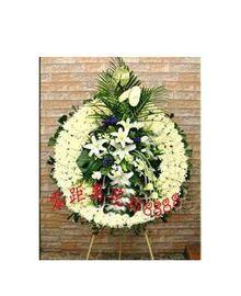 上海鲜花速递哀悼追悼奠仪用花 西宝兴路龙华殡仪馆花篮花圈到家
