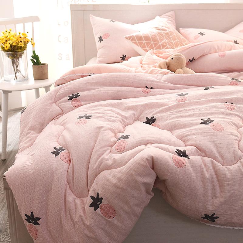 朵洋家纺 羽绒丝被子被芯冬被加厚保暖简约水洗棉被褥双人床被子