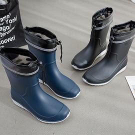 雨鞋男士中筒秋冬防滑防水鞋时尚胶鞋水靴套鞋洗车钓鱼鞋男雨靴图片