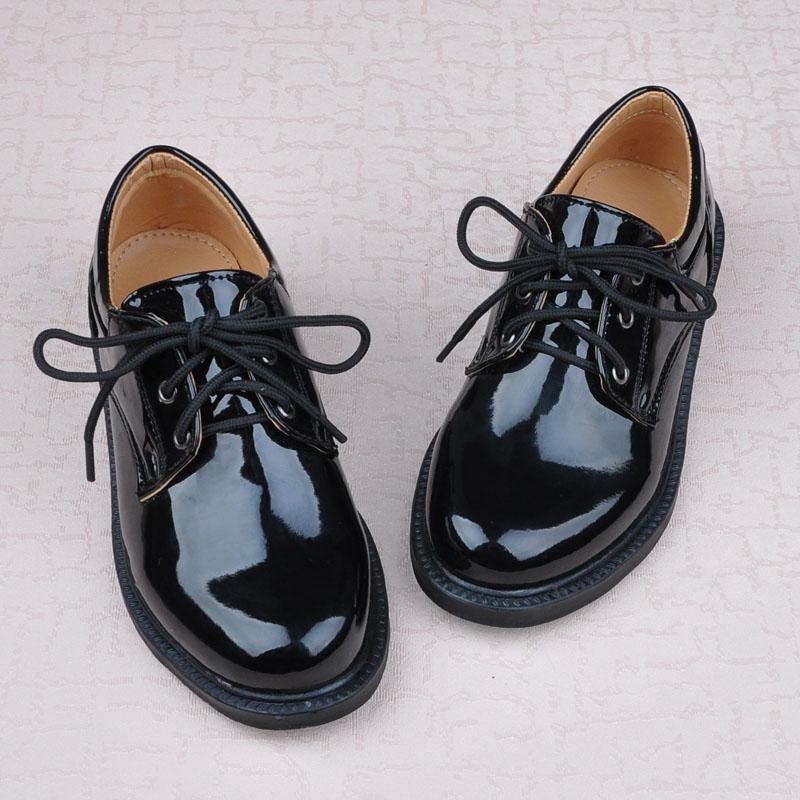 Корейской версии мальчиков детей обувь мальчиков Черное платье цветок девушка обуви шоу обувь студенческие обувь