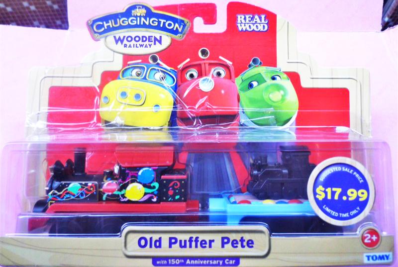Подлинная Chuggingto быстрее автомобилей деревянный старый Питер + магнитный поезд детские коляски