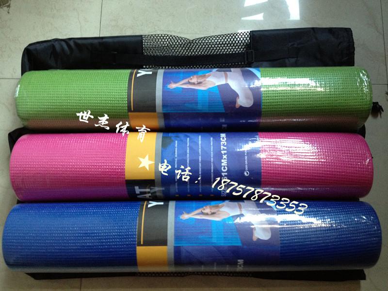 世杰体育 初学者瑜伽垫6mm 防滑瑜珈垫瑜珈毯 送网袋