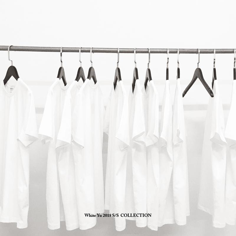 白彧原创高品质简约白色tee男t恤