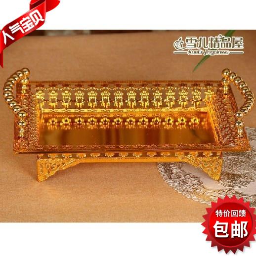 Золото ажурная плита KTV Салатник моды отель бытовые фрукты плиты сплава фрукты пластины почты