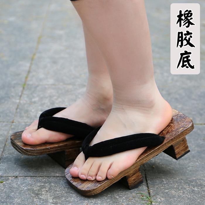 日式cos阴阳师大天狗御魂木屐大门武男女士桐烧二齿木屐拖鞋送袜