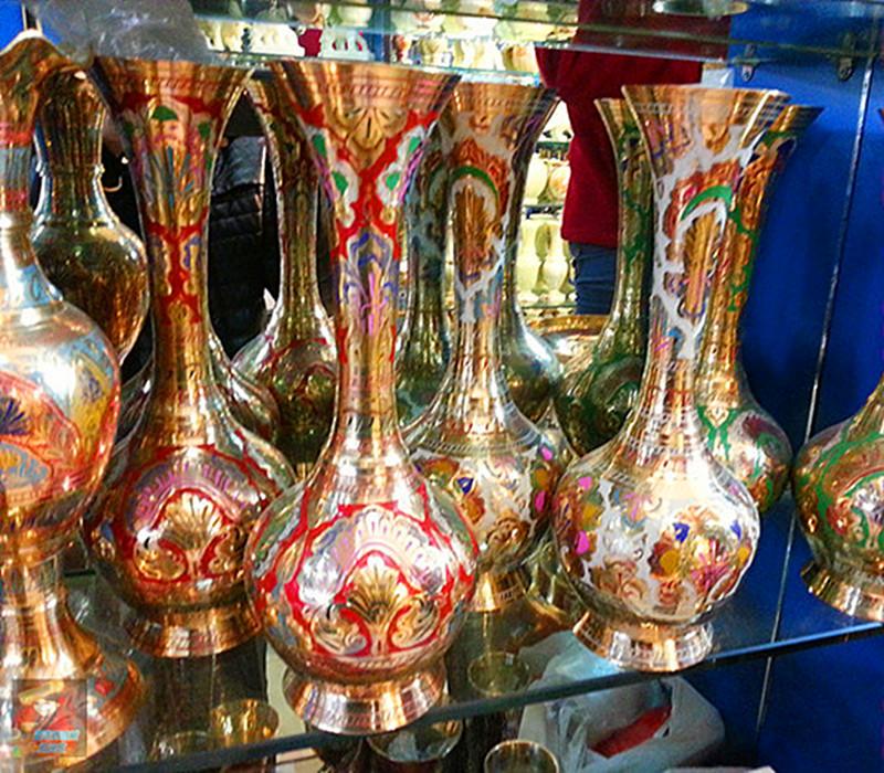 纯印度进口铜器花瓶手工工艺品民族铜雕民族特色工艺新品包邮