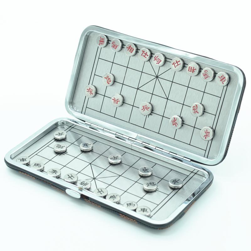 旅游纪念磁铁象棋小号 迷你吸铁石中国象棋便携磁性折叠棋盘棋子