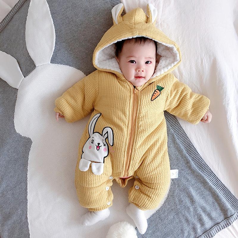 [蓓莱乐旗舰店棉袄,棉服]蓓莱乐女婴儿连体衣服男宝宝0满月1岁月销量22件仅售99元