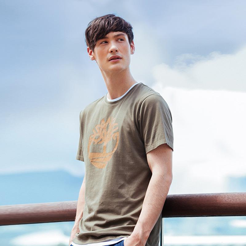 Timberland添柏岚男装19夏装新款舒适印花短袖圆领T恤|A1NAI