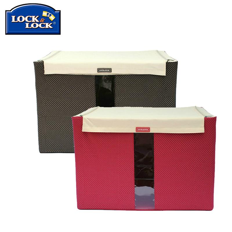 樂扣樂扣收納箱 百納箱鐵架牛津布衣物整理箱有蓋儲物箱收納盒