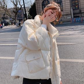 2020年新款反季清仓羽绒服女短款宽松白鸭绒面包服学生冬装外套潮