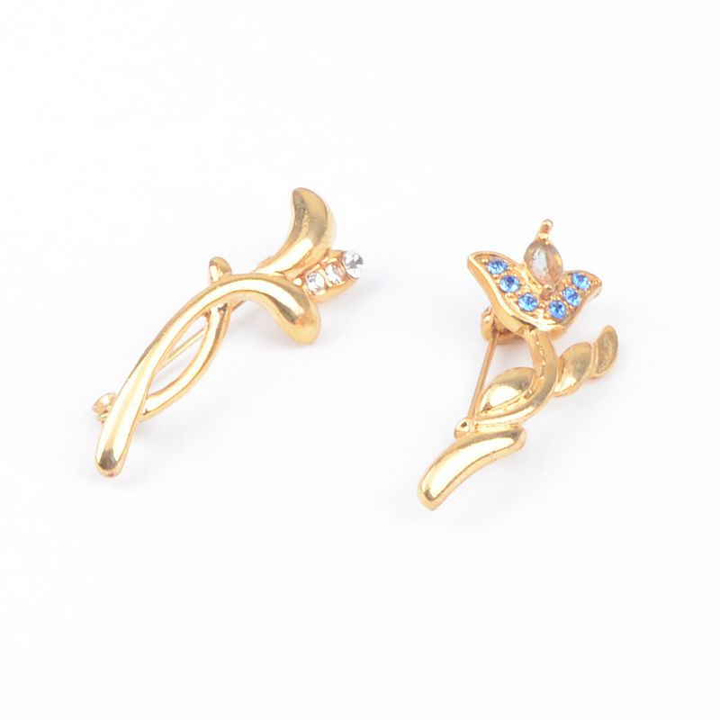 New style personality versatile crystal gem Brooch Flower Brooch female jewelry special price plated with 18K Gold