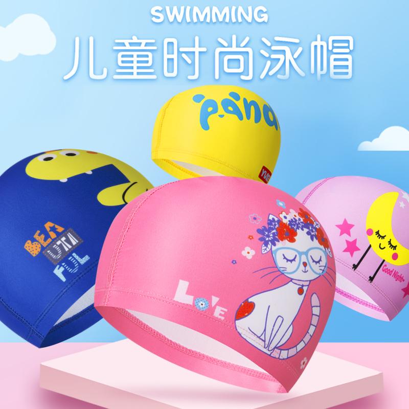 儿童泳帽男童女童卡通泳帽韩国时尚可爱卡通护耳舒适游泳布帽子