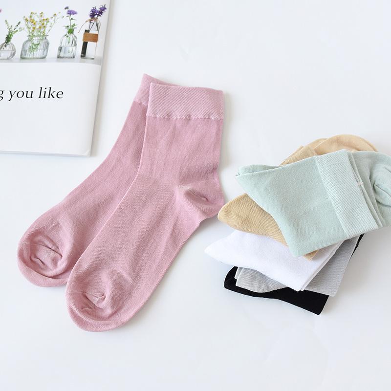 (用1元券)6双装中筒夏季透气松口月子棉袜