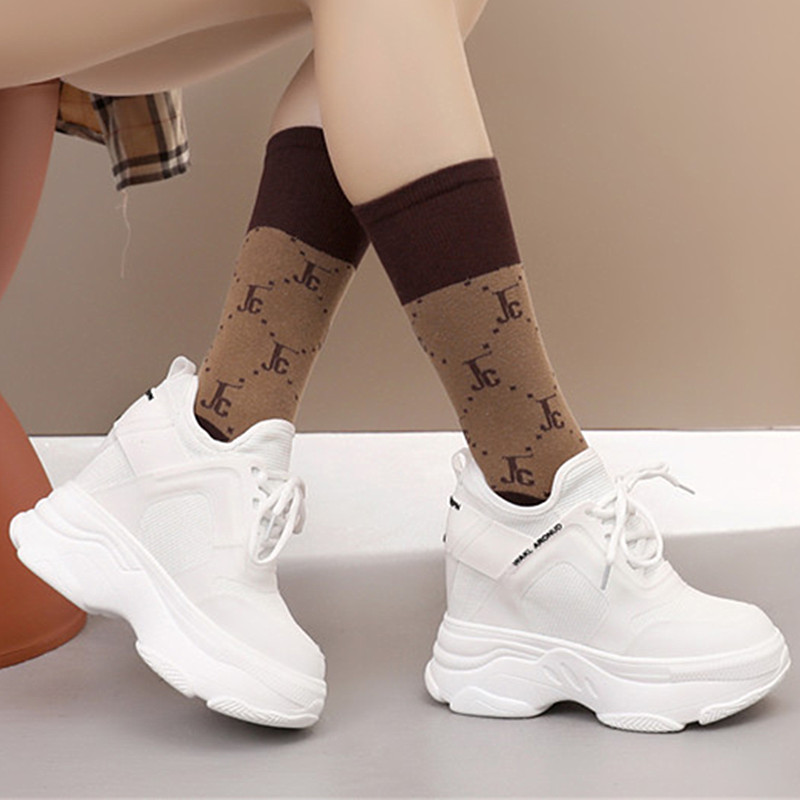 New Korean invisible inner increase of 12 cm cm sports and leisure Womens shoes travel thick soled shoes super high heels
