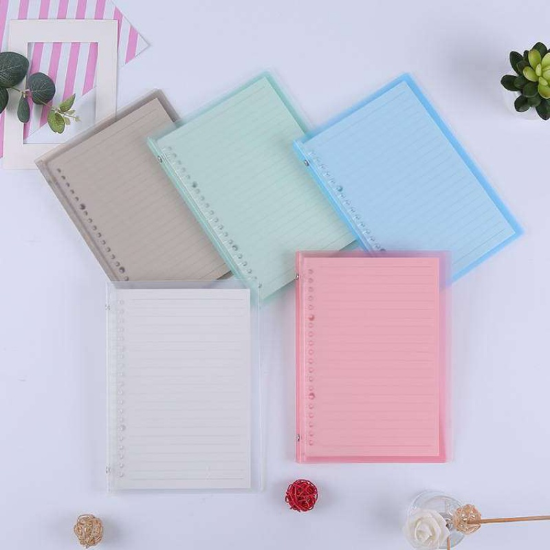 Loose leaf, case, transparent soft shell, loose leaf, soft hand account, Notepad, a5b5 case, soft leather notebook, small Qing