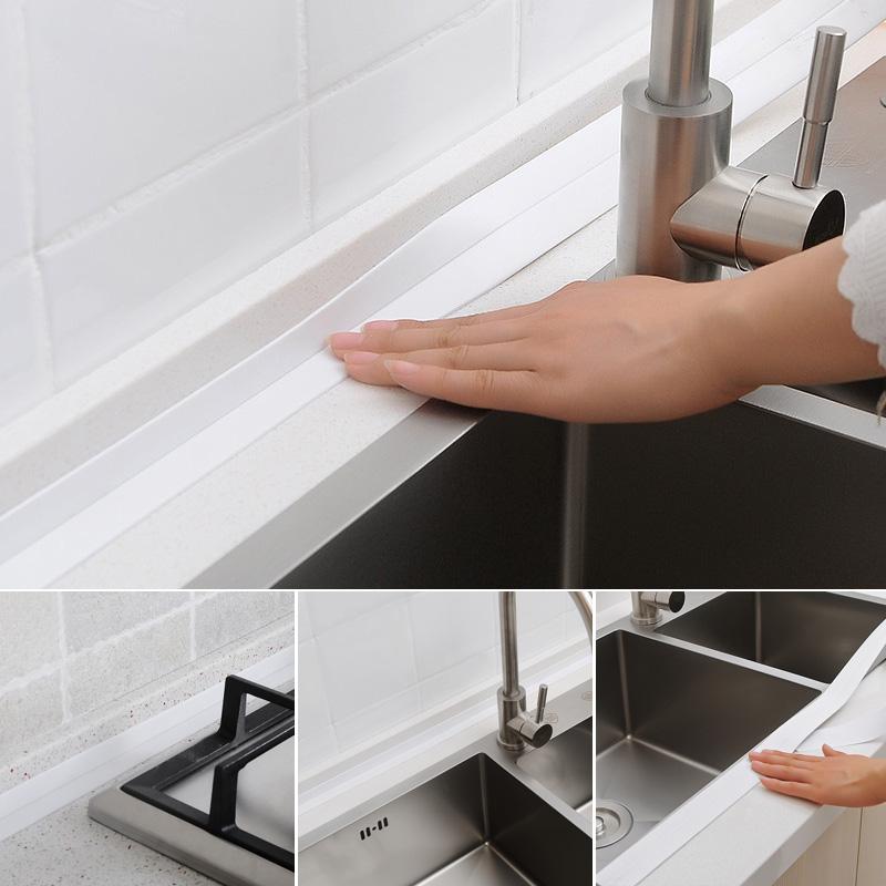 Кухонная мойка водонепроницаемый Штукатурная паста полосатый Милдл прилив ленты стены линии ванной ванной комнаты водонепроницаемый печать полосатый