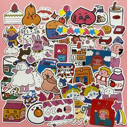 50张韩国卡通可爱手机贴纸水杯笔记本电脑ipad手机壳后壳贴画ins
