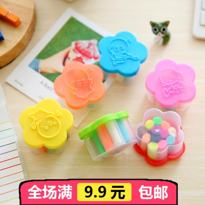 创意花朵造型12色手工彩泥 香味橡皮泥 儿童益智DIY捏泥
