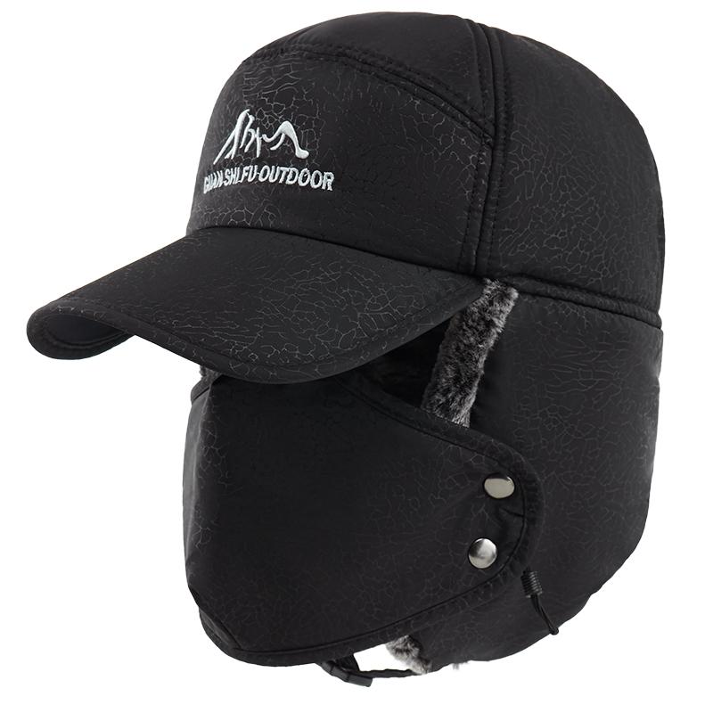 摩托车行外卖骑手装备冬天 防寒东北防风保护耳雷锋鸭舌帽口罩男