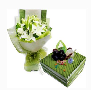哈尔滨呼兰区老城区南京路学院路萧红故居蛋糕鲜花店同城速递玫瑰