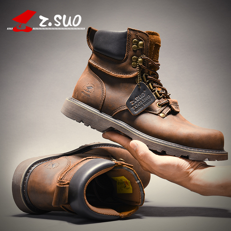 2020 new Martin boots mens fashion high top mens short boots British Wind desert work boots leather boots