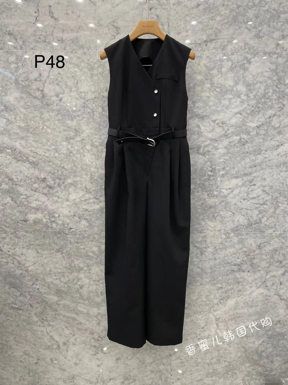 JS NEWYORK 韩国东大门女装代购 21春新款时尚百搭纯色连体裤 P48