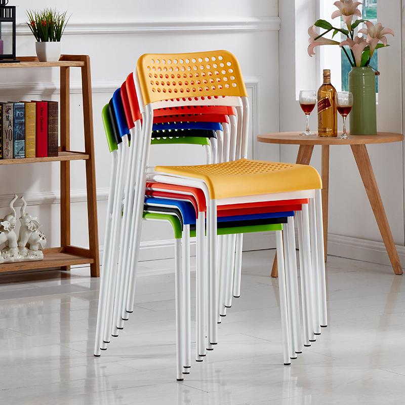 户外培训椅家用餐厅椅洽谈会客椅接待会议椅塑料办公椅子