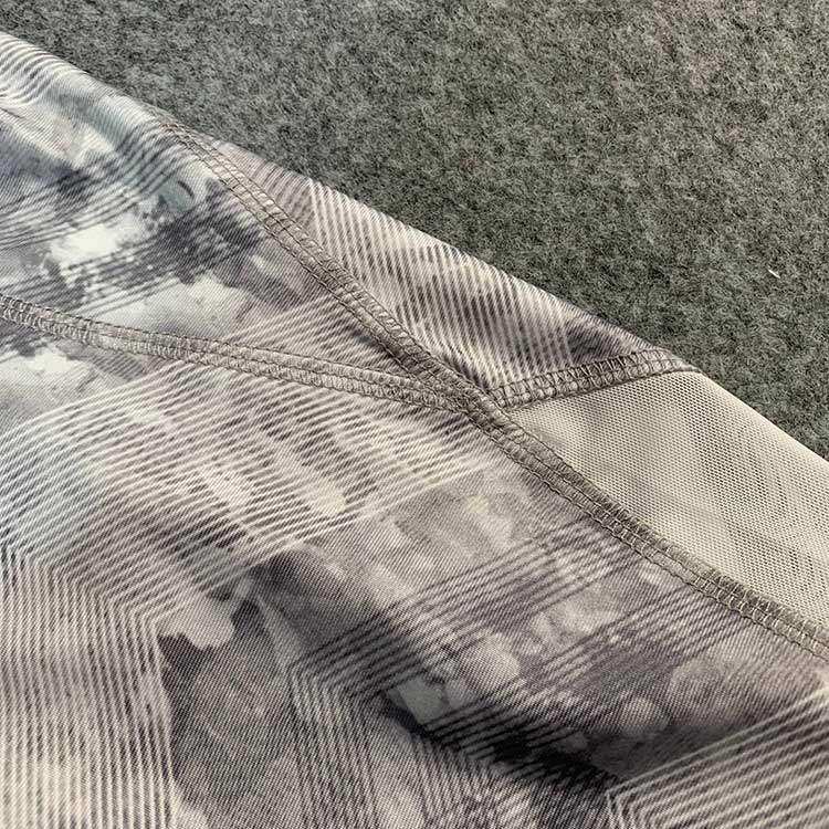 Womens medium high waist Yoga Pants Decor stitched mesh super elastic dry moisture wicking fitness pants running pants