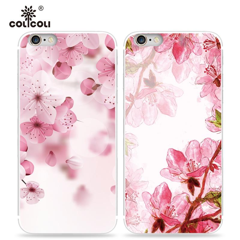 蘋果6手機殼 5s日係清新櫻花女款iPhone6s plus手機殼矽膠se軟套