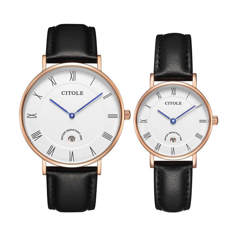 西腾白色大表盘超薄款男女学生手表