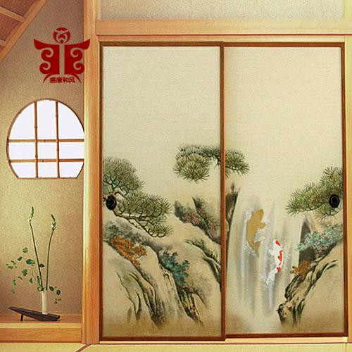 盛唐和风日本福司玛画日式衣柜门纸和室隔断福司玛纸榻榻米彩绘纸