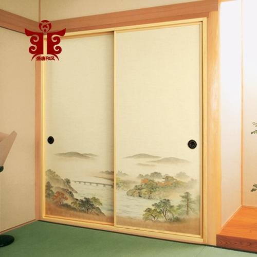 盛唐和风623#日韩室柜门福司马纸榻榻米柜门布彩绘纸福司玛柜门纸