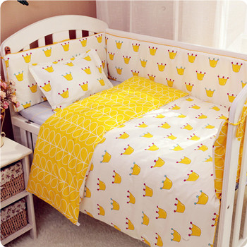 Custom made pure cotton quilt cover baby crib around bedding sheet pillow case no fluorescent agent all cotton washable