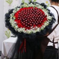 北京同城车厘子草莓水果花束可以吃的花束鲜花抖音网红生日鲜花